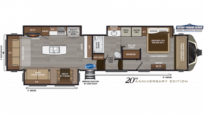 2019 Montana 3811MS Floor Plan Img
