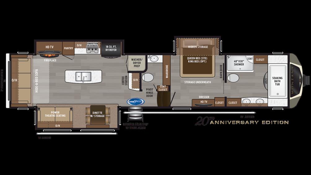 2019 Montana 3920FB Floor Plan Img