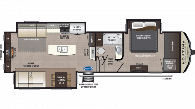 2019 Montana High Country 310RE Floor Plan Img