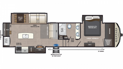 2019 Montana High Country 320MK Floor Plan Img