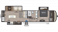 2019 Montana High Country 320MK Floor Plan