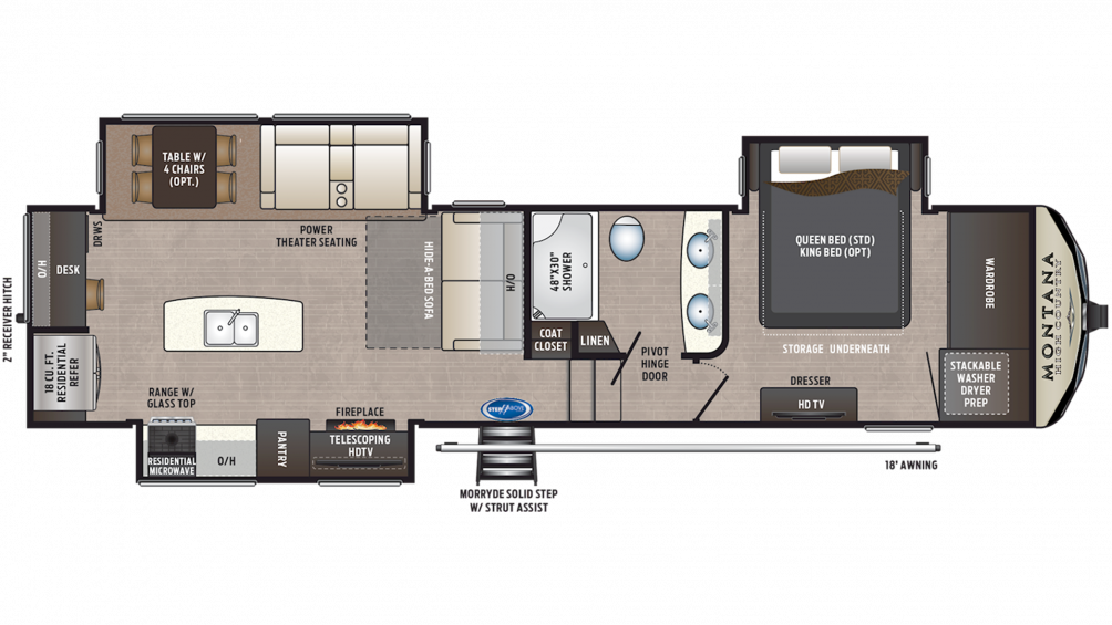 2019 Montana High Country 321MK Floor Plan Img
