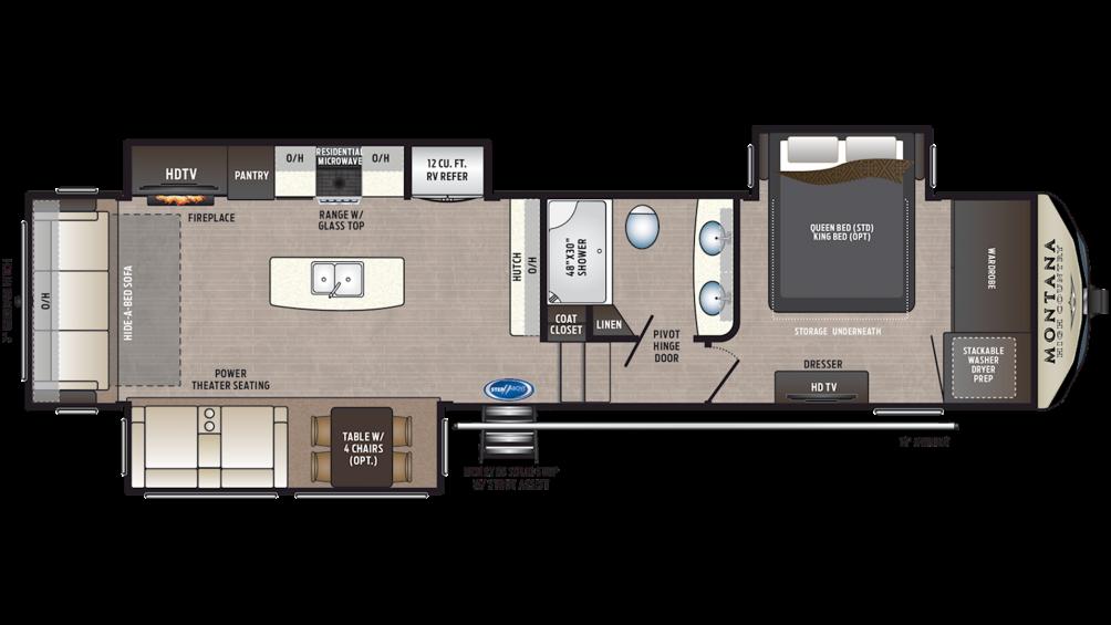 2019 Montana High Country 330RL Floor Plan Img