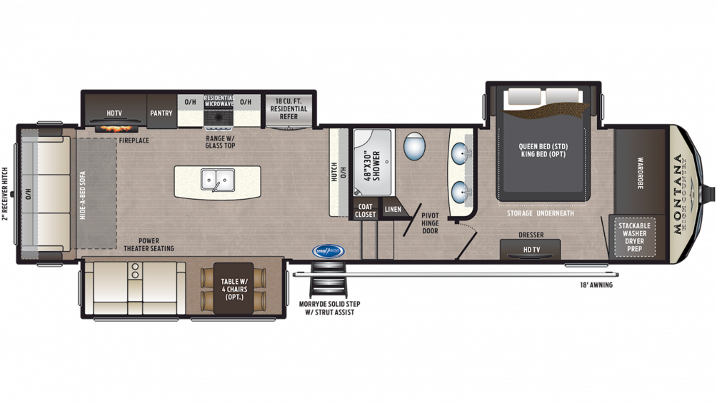 2019 Montana High Country 331RL Floor Plan Img