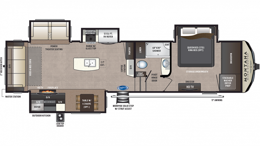 2019 Montana High Country 344RL Floor Plan Img