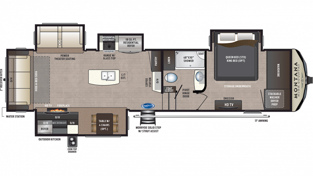 2019 Montana High Country 345RL Floor Plan Img