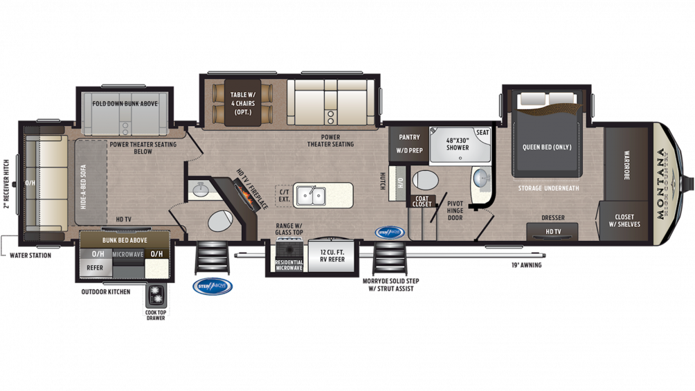 2019 Montana High Country 362RD Floor Plan Img