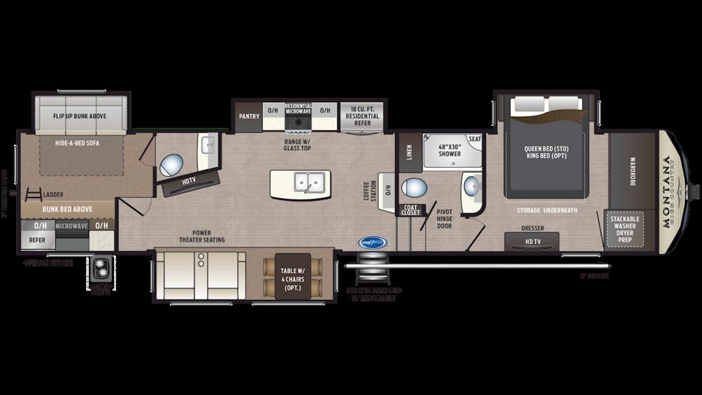 2019 Montana High Country 365BH Floor Plan Img