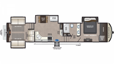 2019 Montana High Country 372RD Floor Plan Img