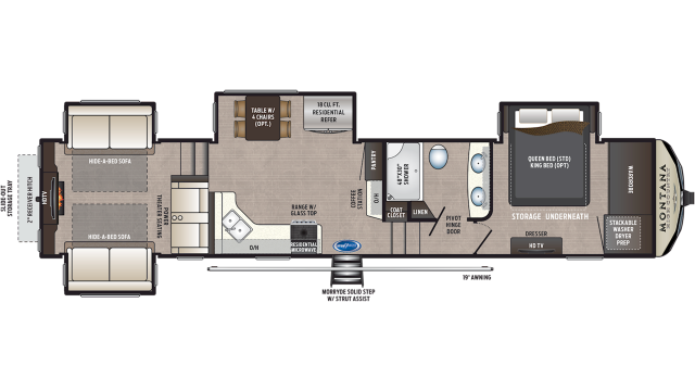 2019 Montana High Country 373RD Floor Plan Img