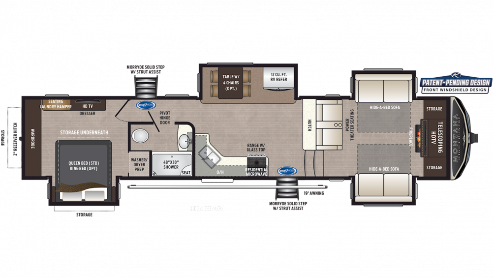 2019 Montana High Country 374FL Floor Plan Img