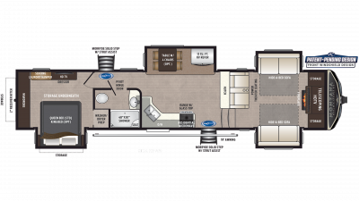 2019 Montana High Country 374FL Floor Plan Img