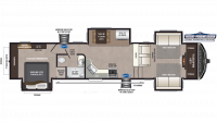 2019 Montana High Country 374FL Floor Plan
