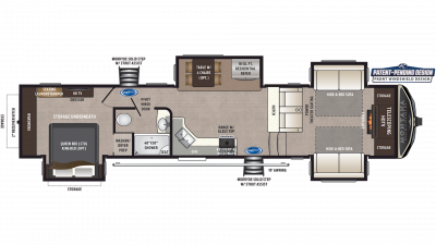 2019 Montana High Country 375FL Floor Plan Img