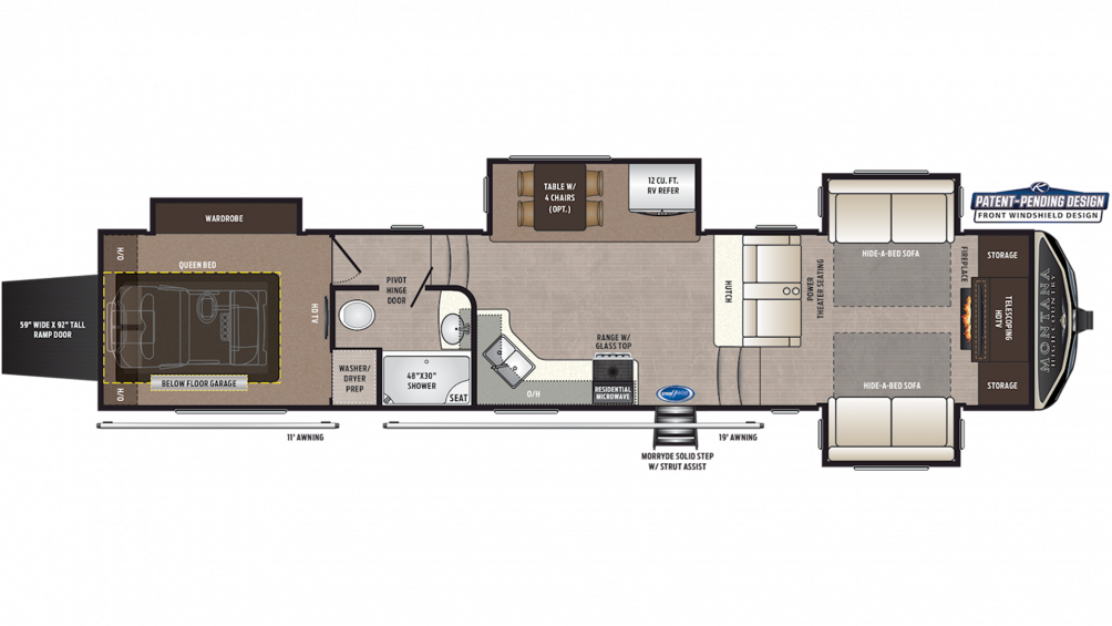 2019 Montana High Country 380TH Floor Plan Img