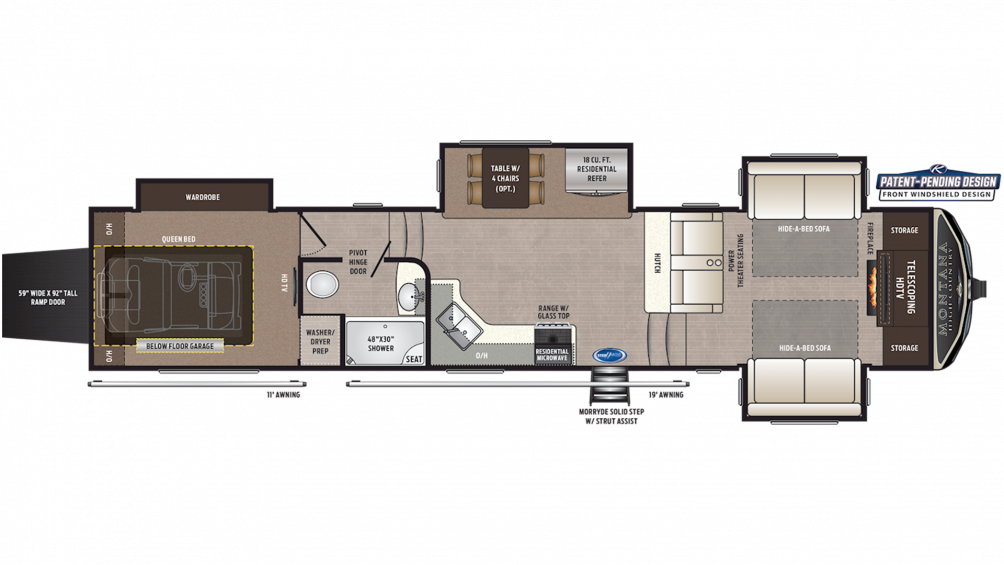 2019 Montana High Country 381TH Floor Plan Img