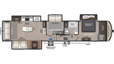 2019 Montana High Country 384BR Floor Plan Img