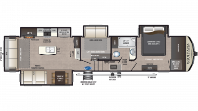 2019 Montana High Country 385BR Floor Plan Img