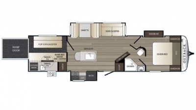 2018 Outback 335CG Floor Plan