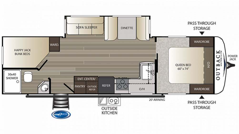2019 Outback Ultra Lite 290UBH Floor Plan Img