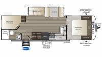 2019 Outback Ultra Lite 290UBH Floor Plan