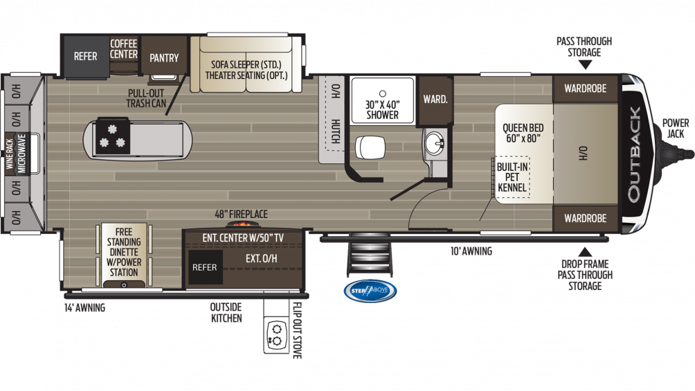 2019 Outback 300ML Floor Plan Img