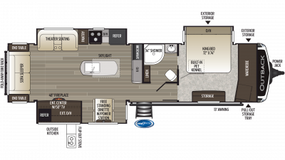 2019 Outback 330RL Floor Plan Img