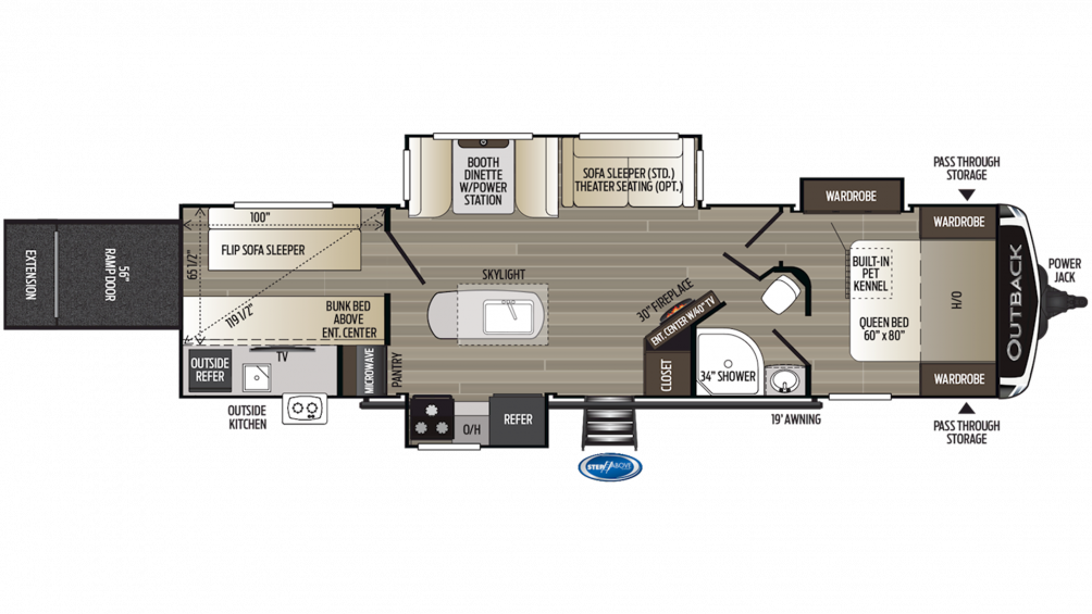 2019 Outback 335CG Floor Plan Img