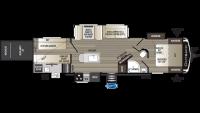 2019 Outback 335CG Floor Plan