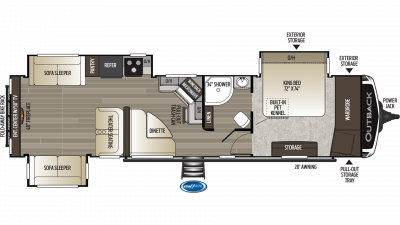 2019 Outback 341RD Floor Plan Img