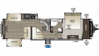 2019 Outback 341RD Floor Plan