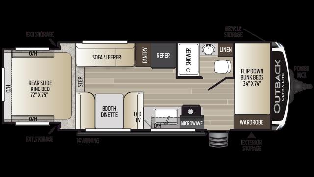 2019 Outback Ultra Lite 210URS Floor Plan Img