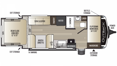2019 Outback Ultra Lite 210URS Floor Plan Img