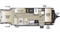 2019 Outback Ultra Lite 210URS Floor Plan