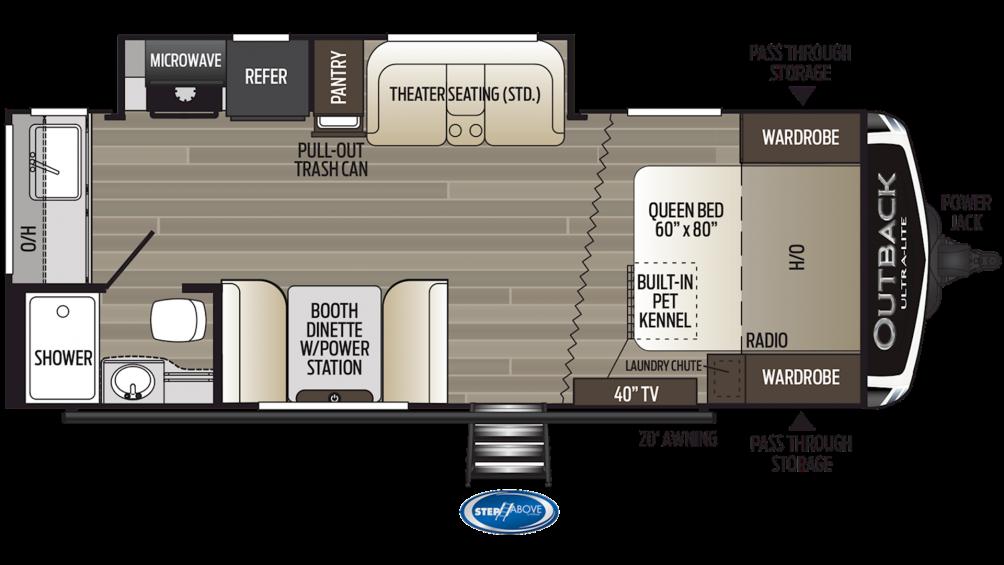 2019 Outback Ultra Lite 221UMD Floor Plan Img