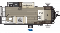 2019 Outback Ultra Lite 221UMD Floor Plan