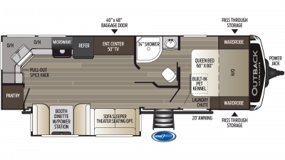 2019 Outback Ultra Lite 260UML Floor Plan Img