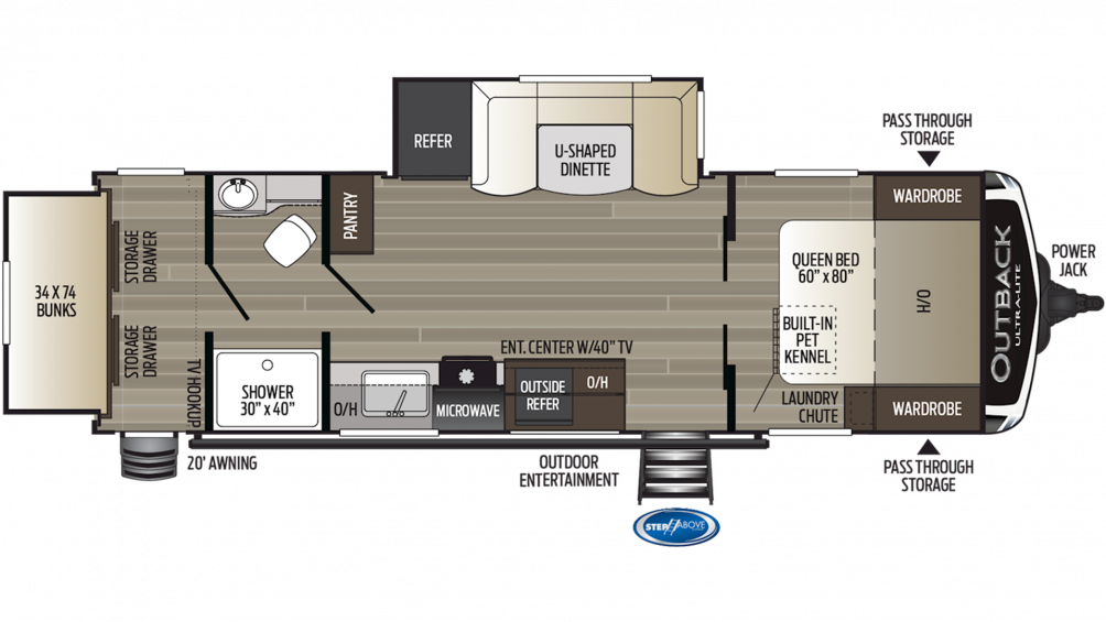2019 Outback Ultra Lite 261UBH Floor Plan Img