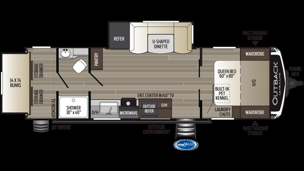 2019 Outback Ultra Lite 280URB Floor Plan Img