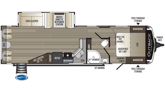 2019 Outback Ultra Lite 299URL Floor Plan