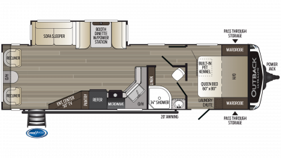 2019 Outback Ultra Lite 299URL Floor Plan Img