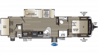 2019 Outback Ultra Lite 301UBH Floor Plan