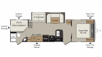 2019 Passport Elite 29DB Floor Plan