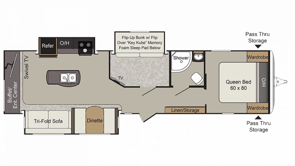 2019 Passport Elite 34MB Floor Plan Img