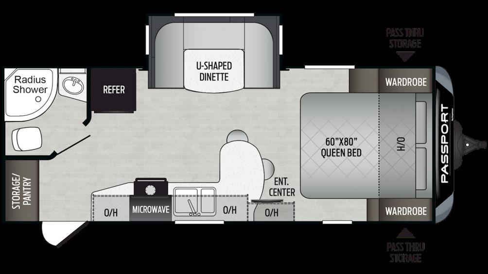 2019 Passport GT Series 2210RB Floor Plan Img