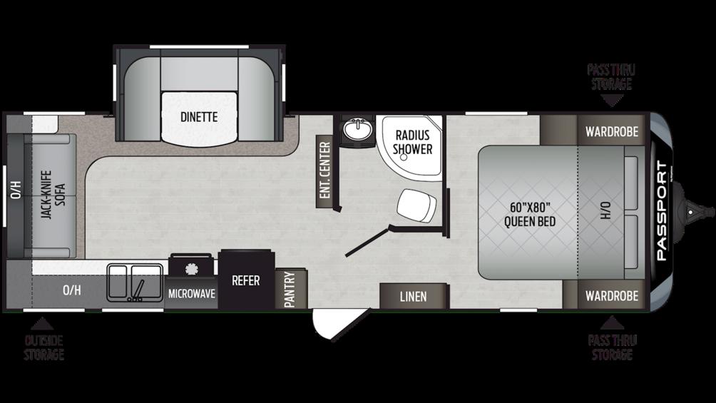 2019 Passport GT Series 2521RL Floor Plan Img