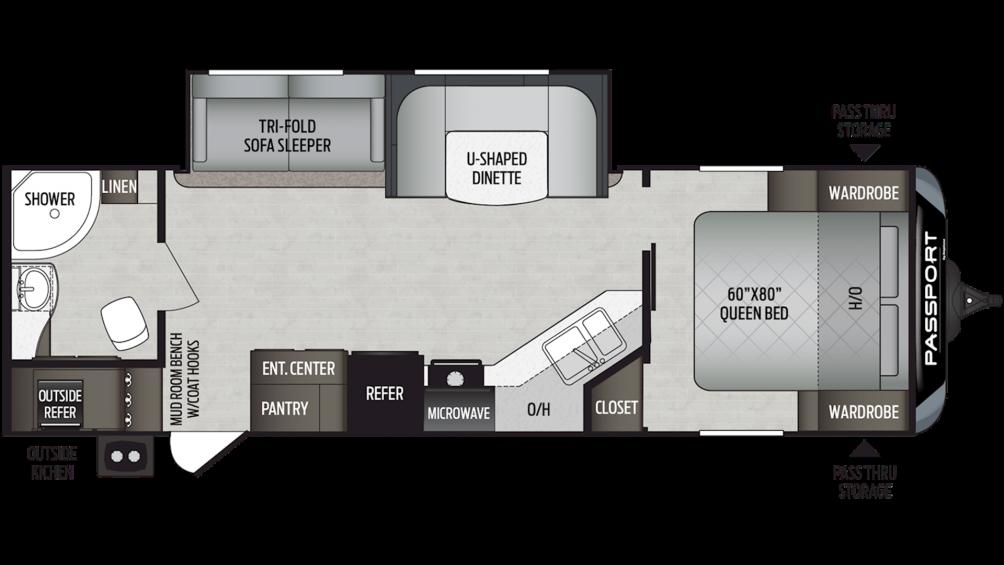 2019 Passport GT Series 2710RB Floor Plan Img