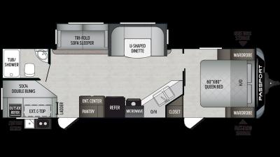 2019 Passport GT Series 2820BH Floor Plan Img
