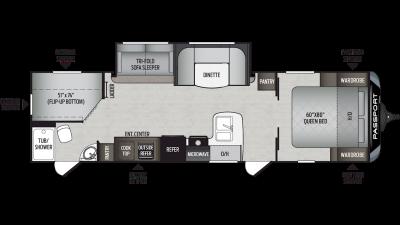 2019 Passport GT Series 2950BH Floor Plan Img