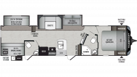 2019 Passport GT Series 3351BH Floor Plan